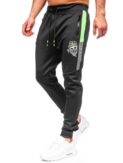 Черные мужские спортивные брюки Bolf K10250