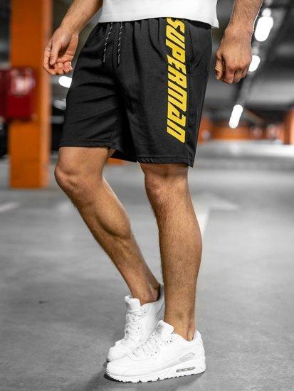 Черные мужские спортивные шорты Bolf KS2595