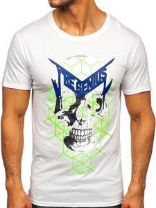 Белая мужская футболка с принтом Bolf Y70002