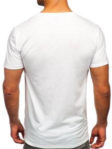 Белая мужская футболка с принтом Bolf Y70003