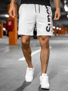 Белые мужские спортивные шорты Bolf KS2598