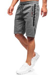 Графитовые мужские спортивные шорты Bolf JX137