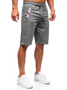 Графитовые мужские спортивные шорты Bolf JX391