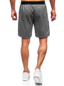 Графитовые мужские спортивные шорты Bolf KS2578