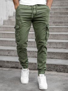 Зеленые мужские брюки джоггеры карго Bolf CT6706S0