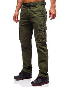 Зеленые мужские брюки карго с ремнем Bolf CT8906