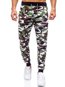 Зеленые мужские спортивные брюки камуфляж Bolf 5958