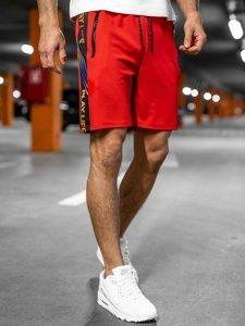 Красные мужские спортивные шорты Bolf KS2592