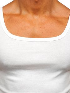 Мужская майка без принта белая Bolf 70005