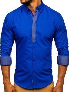 Рубашка мужская BOLF 3725 васильковая
