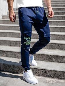Темно-синие мужские спортивные брюки карго Bolf K10286