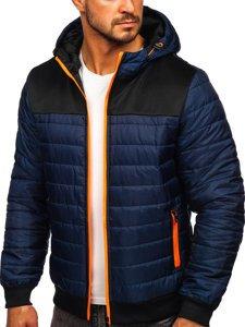 Темно-синяя спортивная мужская демисезонная куртка Bolf M10011