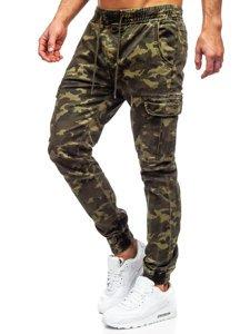 Хаки мужские брюки джоггеры карго Bolf KA2122
