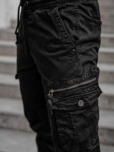 Черные мужские брюки джоггеры карго Bolf CT6706S0