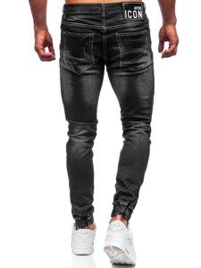 Черные мужские джинсы джоггеры Bolf 30051S0