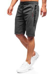 Черные мужские спортивные шорты Bolf JX137