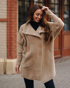 Бежеве жіноче пальто Bolf 7118-1