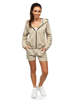 Бежевий жіночий спортивний костюм Bolf 2062