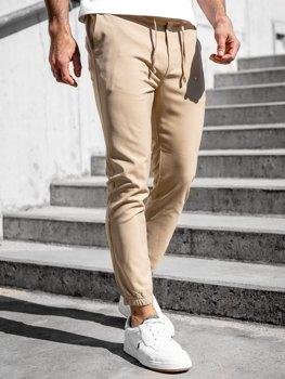 Бежеві чоловічі штани джоггери Bolf 0011