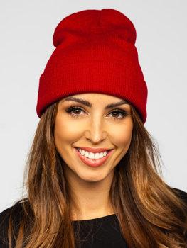 Бордова жіноча зимова шапка YW09004