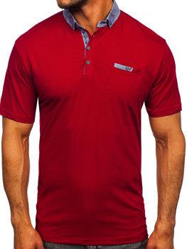 Бордова чоловіча футболка поло Bolf 192295