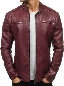 Бордова чоловіча шкіряна куртка Bolf EX388 a5944ecf9ddd6