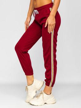 Бордові жіночі спортивні штани Bolf YW01020B