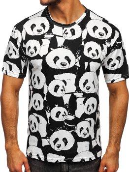 Біла чоловіча футболка з принтом Bolf 14902