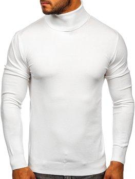 Білий чоловічий светр гольф Bolf YY02