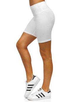 Білі короткі жіночі легінси Bolf 54548