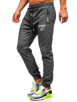 Графітово-білі спортивні чоловічі штани Bolf Q1042
