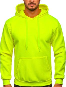Жовто-неонова толстовка з капюшоном чоловіча кенгуру Bolf 1004