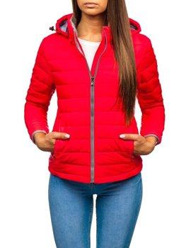 Жіноча демісезонна куртка рожева Bolf AB054