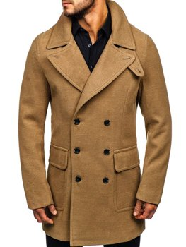 Зимове чоловіче пальто кемел Bolf 1048