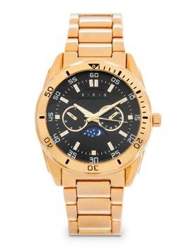 Золотий чоловічий наручний годинник зі сталі Bolf 5687