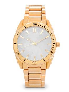 Золотий чоловічий наручний годинник зі сталі Bolf 5690-1