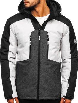 Куртка чоловіча гірськолижна сіра Bolf 1340