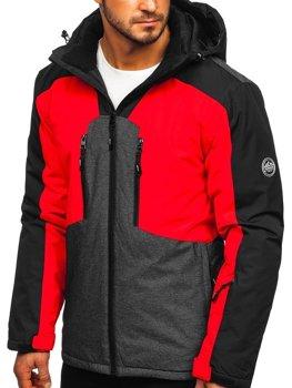 Куртка чоловіча гірськолижна червона Bolf 1340