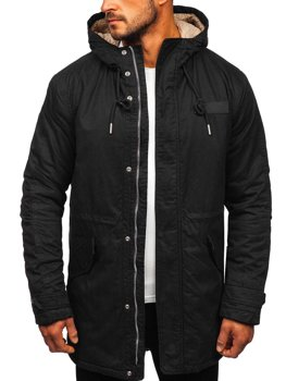 Куртка чоловіча зимова парка чорна Bolf EX838