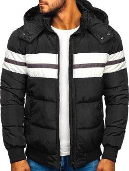 Куртка чоловіча зимова спортивна чорна Bolf JK397