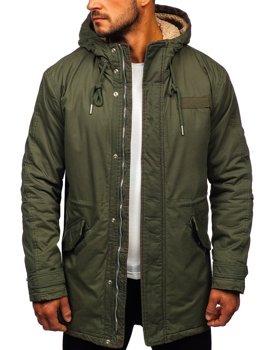 Куртка чоловіча зимова утеплена кольору хакі Bolf EX838