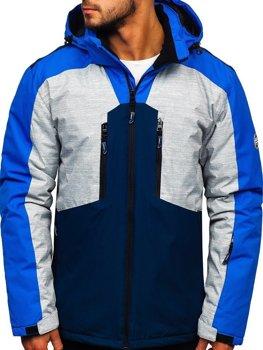 Куртка чоловіча лижна синя Bolf 1340