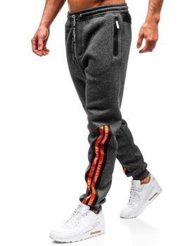 Мужские спортивные брюки черно-белые Bolf Q3869
