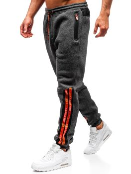 Мужские спортивные брюки черно-оранжевые Bolf Q3869