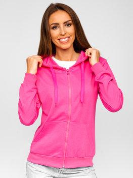 Рожева жіноча толстовка з капюшоном Bolf B20003