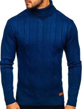 Светр чоловічий гольф синій Bolf 5021