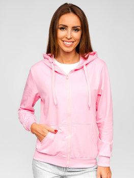 Світло-рожева жіноча толстовка з капюшоном Bolf B20003