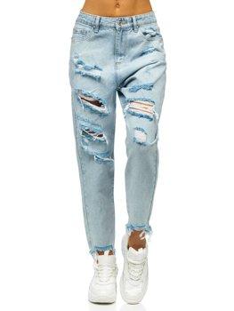 Сині жіночі джинси mom fit Bolf WL1689