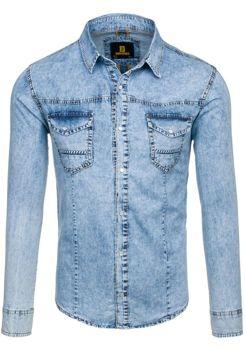 Сорочка джинсова чоловіча DENIM REPUBLIC 4416 блакитна