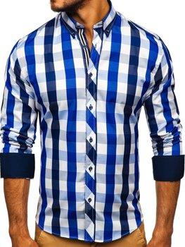 Сорочка чоловіча BOLF 4791 темно-синя